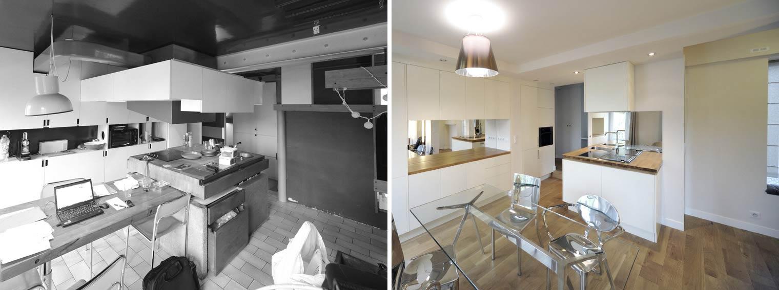 Avant  Aprs  Rnovation dun appartement atypique 3 pices 65m2
