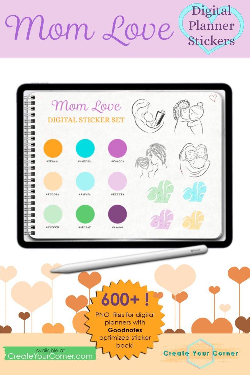 Mom Love | Digital Planner Stickers