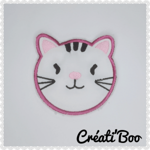Lot de 4 lingettes lavable chat Rose