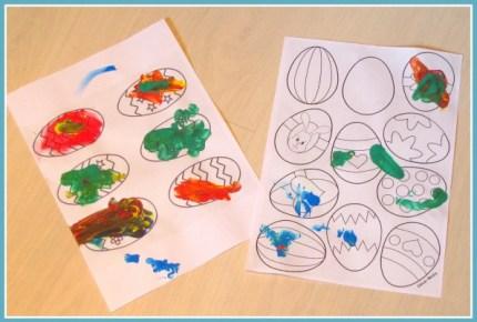 Mandje met paaseieren (tekening) - Creatief en Simpel - Ga naar onze site voor de uitleg