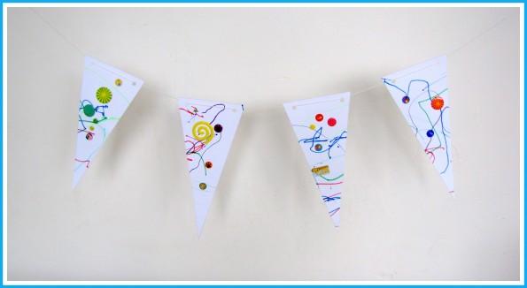 Vlaggenlijn - Creatief en Simpel - Ga naar onze site om het sjabloon en de werkbeschrijving te downloaden