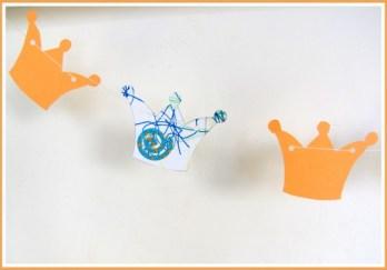 Kroontjesslinger voor Koningsdag - Creatief en Simpel - Ga naar onze site voor de werkbeschrijving en meer leuke ideeen en knutsels om te maken.