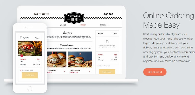 Online Ordering With Wix