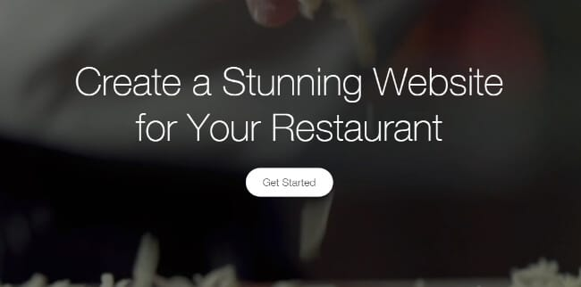 Wix Restaurant Website Builder Homepage