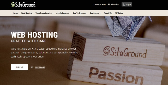 Siteground WordPress Website Hosting