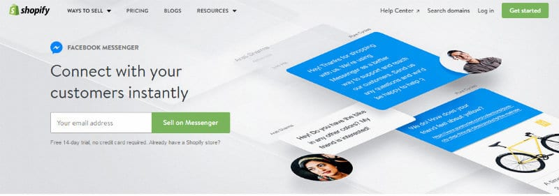 Sell On Facebook Messenger With Shopify