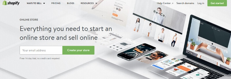 Shopify Online Store Option