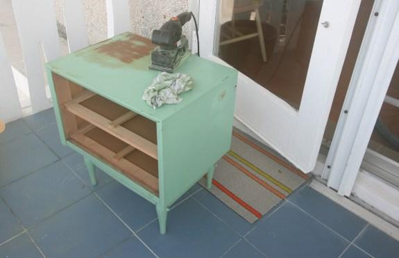 sanding wood furniture