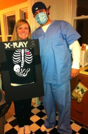 DIY Pregnant Halloween costume