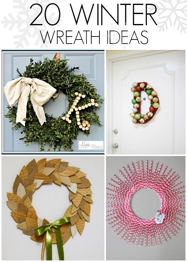 DIY Winter Wreath Ideas CRAFT
