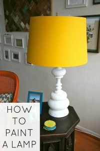 How to paint a lamp - C.R.A.F.T.