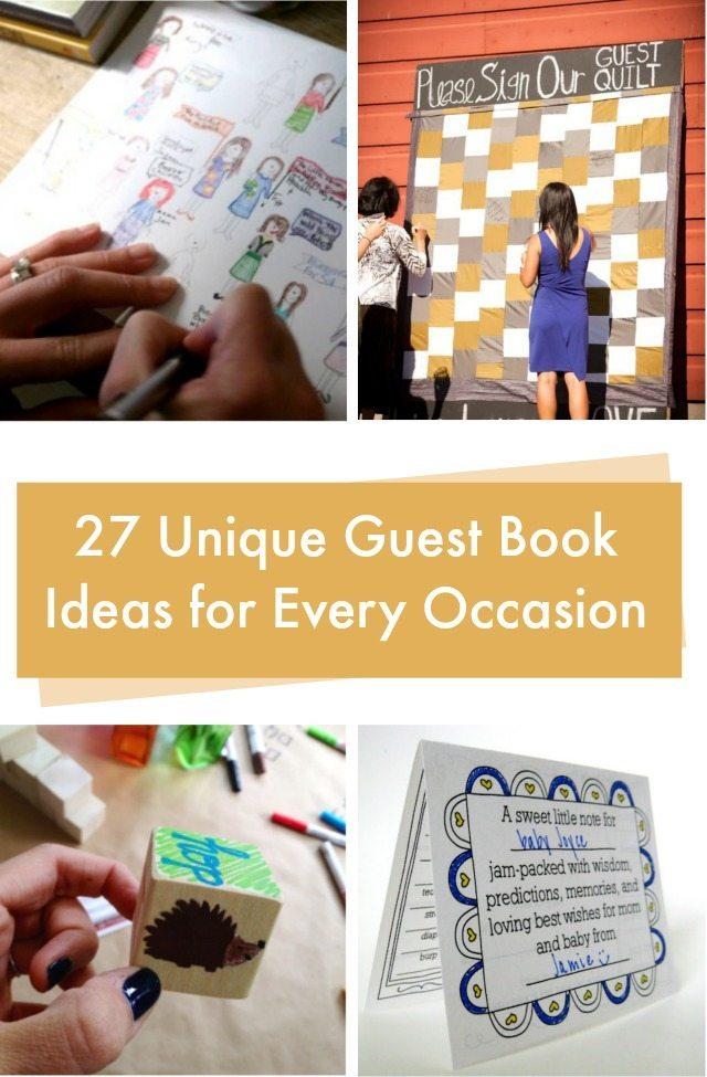 27 guest book ideas