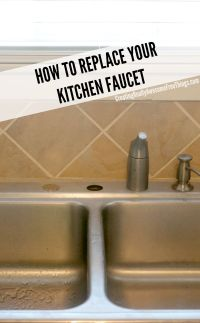 How to replace a kitchen faucet - C.R.A.F.T.