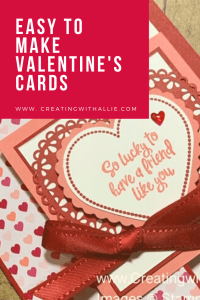 On this post you will learn how to make three easy Valentine's cards using the From my Heart suite from Stampin' Up!