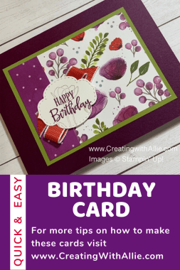 Easy to make Birthday card using the Peaceful Poppies Suite from Stampin Up!
