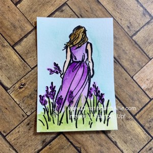Learn how to watercolor  stamped images with an easy technique