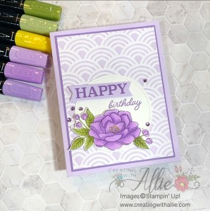 Birthday Handmade Card for a Friend coloring with alcohol markers