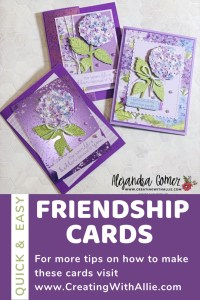 Learn how to make three easy cards using the Hydrangea Hill Suite from Stampin' Up!