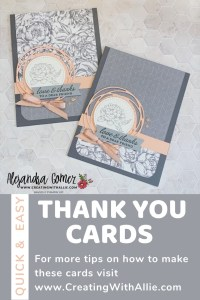 Make 12 Thank you cards with two sheets of patterned paper