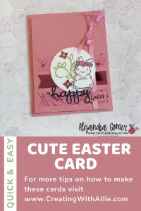 learn how to make a cute Easter Handmade Card using the Springtime Joy stamp set form Stampin Up!