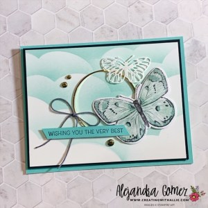 Handmade Birthday Card with the Butterfly Bouquet