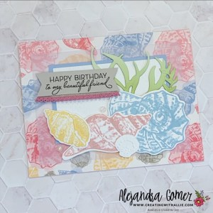 Beautiful Birthday cards using the Sea & Sand Bundle from Stampin' Up!