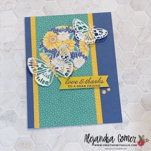 Butterfly Brilliance Bundle for an easy Thank You Card