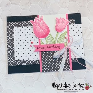 Learn how to make beautiful birthday cards using the Timeless Tulips Bundle from Stampin' Up!