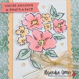 Learn how to color with alcohol markers using the hand penned petals bundle from Stampin' Up!