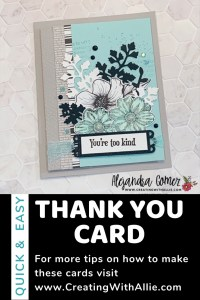Learn how to make a easy Thank you card using the Quiet Meadow Bundle from Stampin' Up!