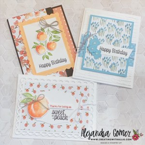 Make cards with the You're a Peach Suite