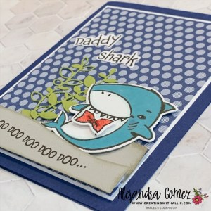 Learn how to make a cute Father's Day Card using the Shark Frenzy Bundle from Stampin' Up! This card is great if you have little kids!