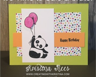 Party Pandas Birthday Card www.creatingwithkristina.com