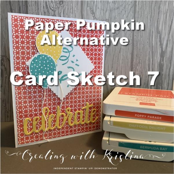 Card Sketch 7 March 2019 Paper Pumpkin Alternative