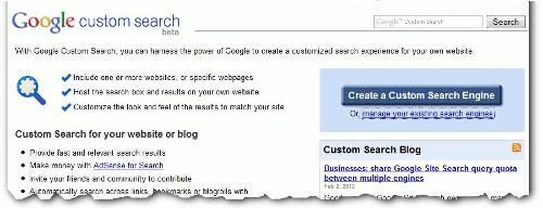 Création d'un moteur de recherche Google