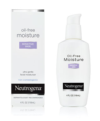 Neutrogena oil-free moisture for sensitive skin.