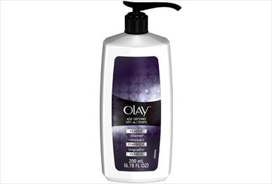 Olay Age-Defying Classic Cleanser 200 ml bottle pump.