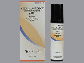 Retin-A Micro pump tretinoin 0.08% topical retinoid.