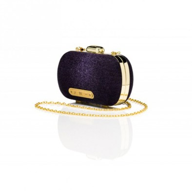 Wearable Stellé Audio Mini-Clutch Speaker™ in Metallic Purple