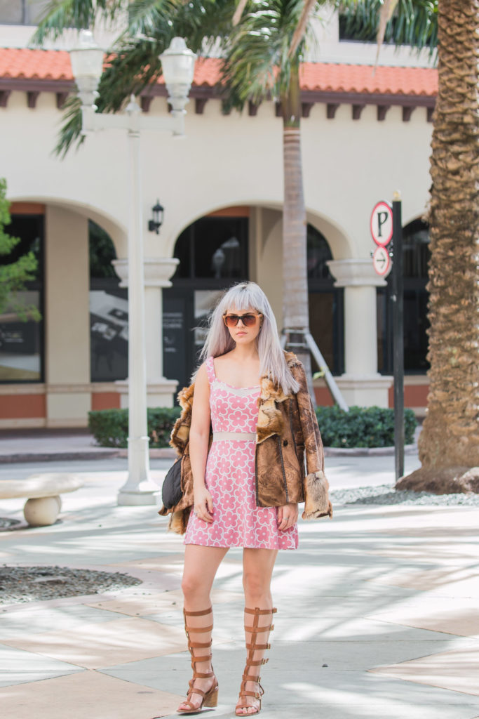 Pink and White Floral Print Dress | Creation Despite