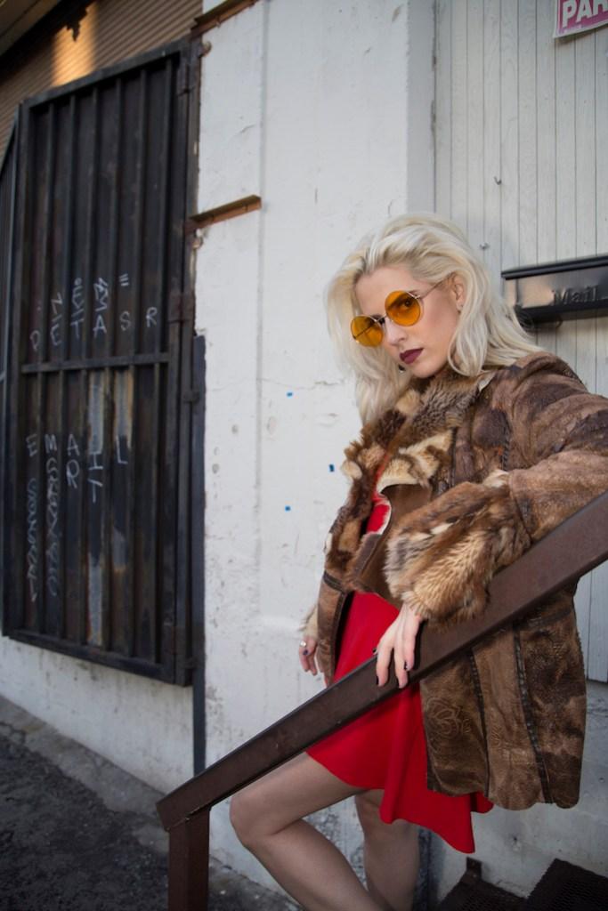 Colored Lens Sunglasses - Fashion Blogger