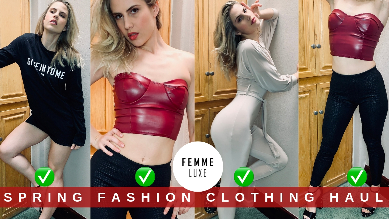 a30d34b8cfc Femme Luxe Spring Fashion Clothing Haul • Caitlyn Sway - Model ...