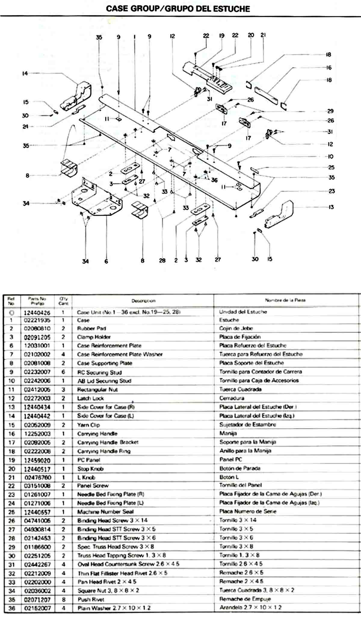 BROTHER SILVER REED KNITTING MACHINE PARTS TECH