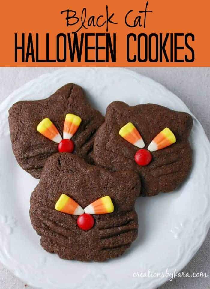 Halloween RecipeBlack Cat Cookies