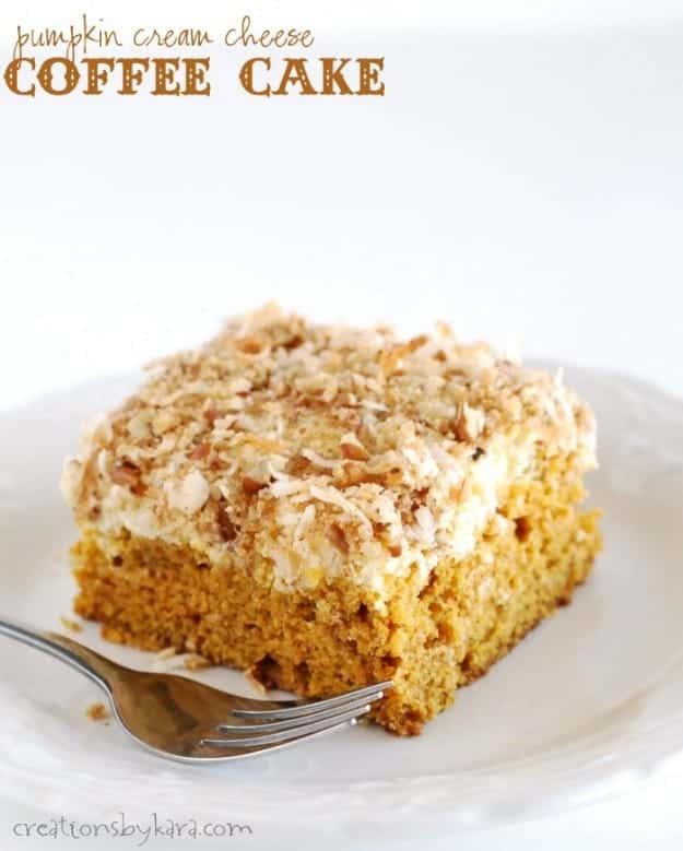 Pumpkin Cream Cheese Coffee Cake