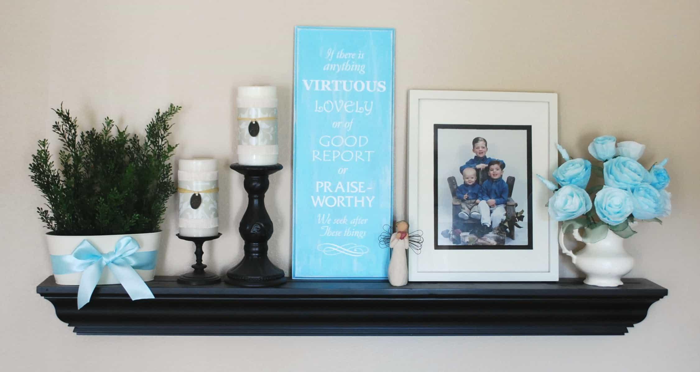 Living Room Decorating Shelves