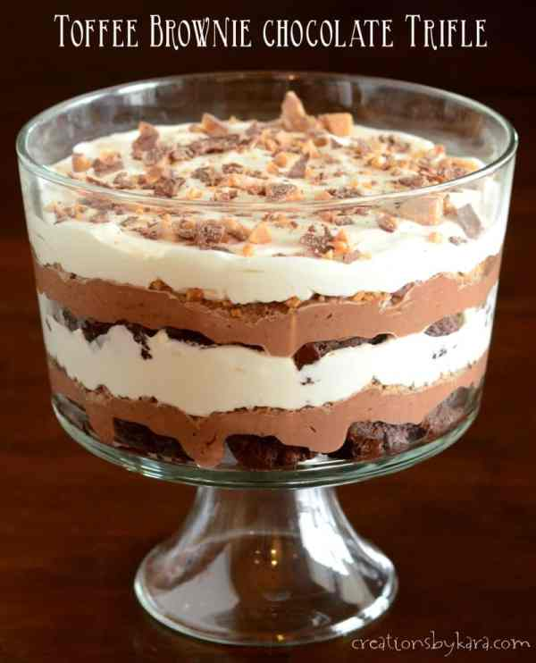Recipe Toffee Brownie Chocolate Trifle