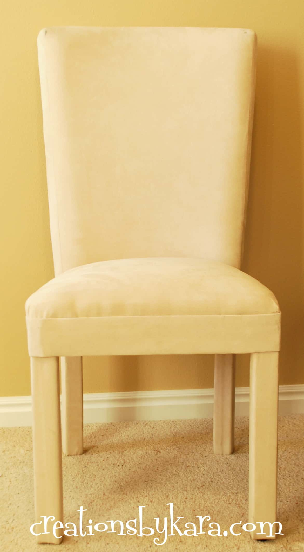 parsons chair cover tutorial lightweight beach chairs hanging wood trim in my living room