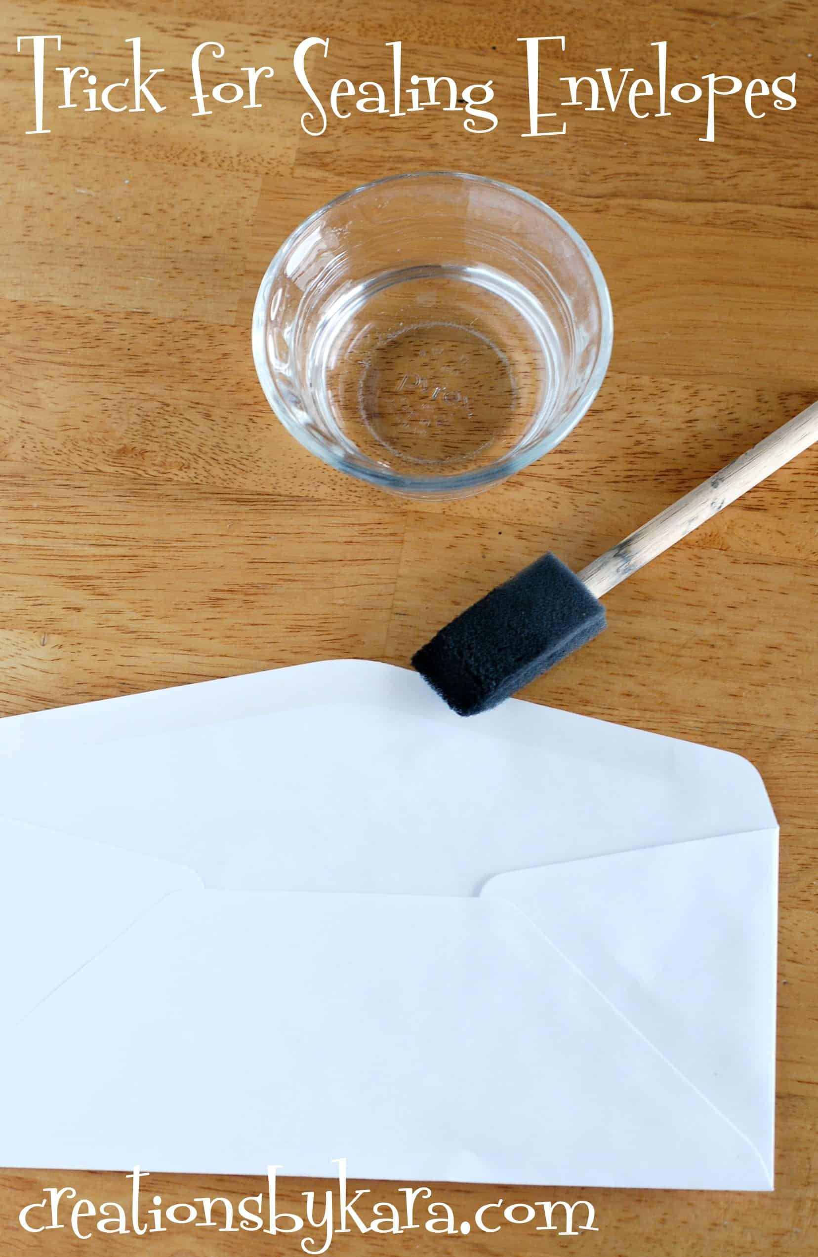 How To Seal an Envelope Without Licking It