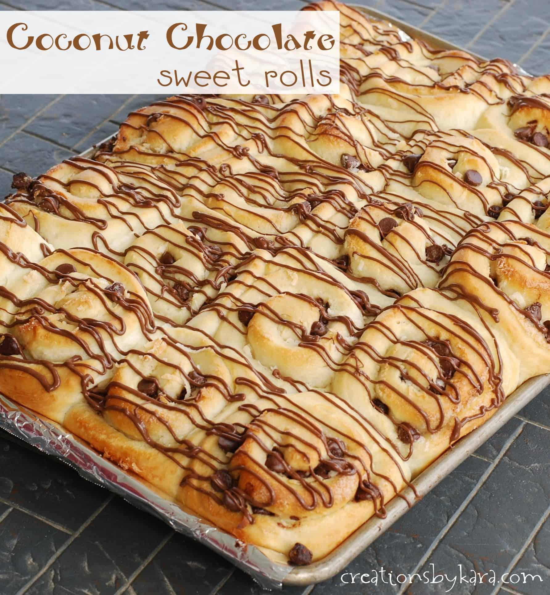 Sweet Roll Recipe Coconut Chocolate Rolls